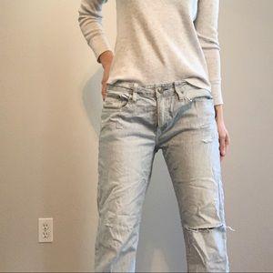 American Eagle🌟Stripe Boyfriend Jeans